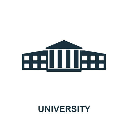 University icon vector illustration. Creative sign from education icons collection. Filled flat University icon for computer and mobile.