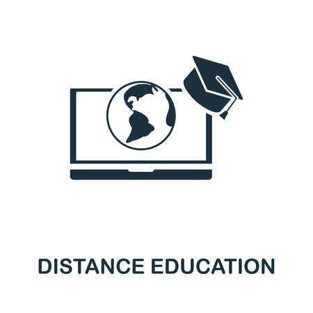 Distance Education icon vector illustration. Creative sign from education icons collection. Filled flat Distance Education icon for computer and mobile. Иллюстрация