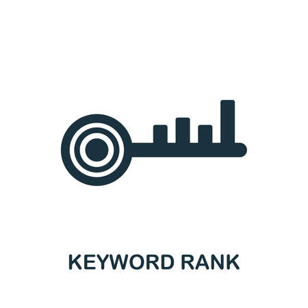 Keyword Rank icon vector illustration. Creative sign from seo and development icons collection. Filled flat Keyword Rank icon for computer and mobile.