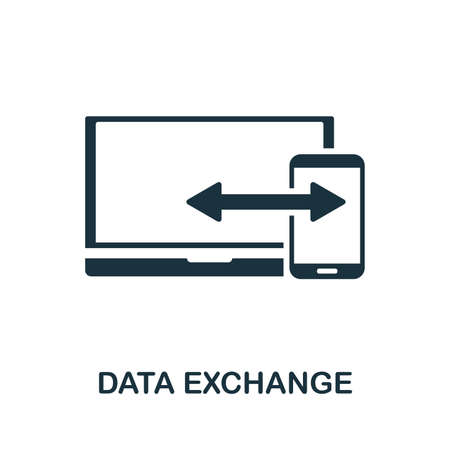 Data Exchange icon vector illustration. Creative sign from seo and development icons collection. Filled flat Data Exchange icon for computer and mobile.