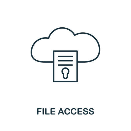 File Access icon. Thin outline style design from web hosting icons collection. Creative File Access icon for web design, apps, software, print usage. Illusztráció