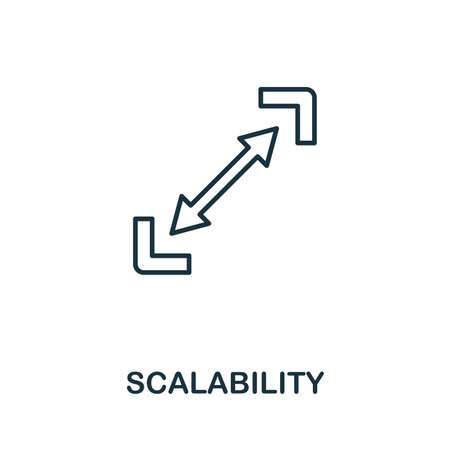 Scalability outline icon. Thin style design from startup icons collection. Creativescalability icon for web design, apps, software, print usage.