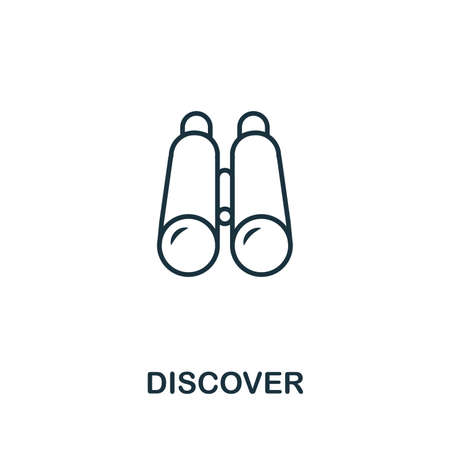 Discover outline icon. Thin style design from startup icons collection. Creativediscover icon for web design, apps, software, print usage.