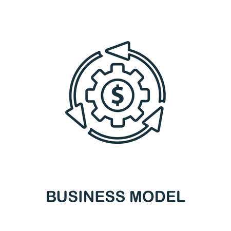 Business Model outline icon. Thin style design from startup icons collection. Creativebusiness model icon for web design, apps, software, print usage.
