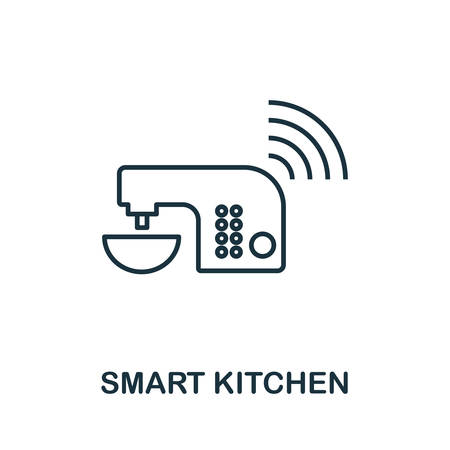 Smart Kitchen outline icon. Creative design from smart devices icon collection. Premium Smart Kitchen outline icon. For web design and printing.