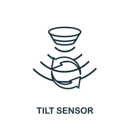 Tilt Sensor outline icon. Thin line style from sensors icons collection. Pixel perfect simple element tilt sensor icon for web design, apps, software, print usage.