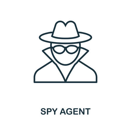 Spy Agent thin line icon. Creative simple design from security icons collection. Outline spy agent icon for web design and mobile apps usage.