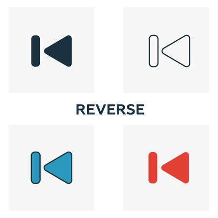Forward icon set. Four elements in diferent styles from audio buttons icons collection. Creative forward icons filled, outline, colored and flat symbols.