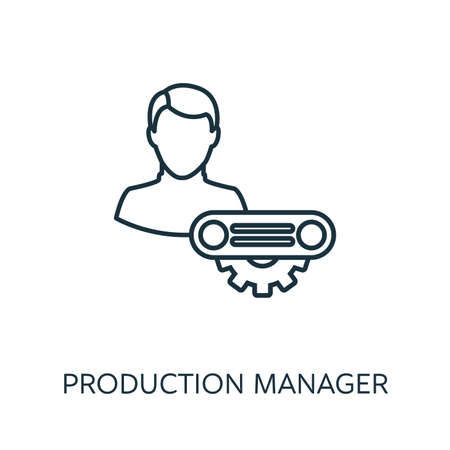 Production Manager outline icon. Thin line concept element from risk management icons collection. Creative Production Manager icon for mobile apps and web usage.