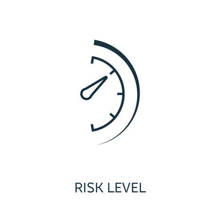 Risk Level outline icon. Thin line concept element from risk management icons collection. Creative Risk Level icon for mobile apps and web usage. Çizim