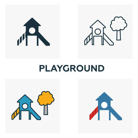 Playground outline icon. Thin style design from city elements icons collection. Pixel perfect symbol of playground icon. Web design, apps, software, print usage.