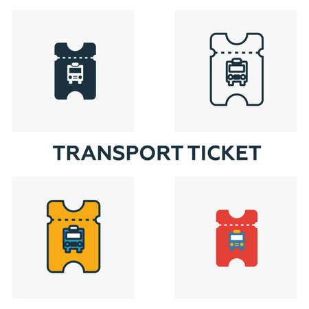 Transport Ticket outline icon. Thin style design from city elements icons collection. Pixel perfect symbol of transport ticket icon. Web design, apps, software, print usage.