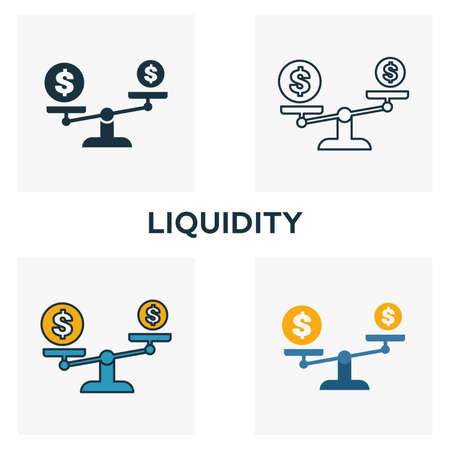 Liquidity outline icon. Thin line element from crowdfunding icons collection. UI and UX. Pixel perfect liquidity icon for web design, apps, software, print usage.