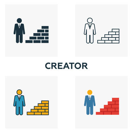 Creator outline icon. Thin line element from crowdfunding icons collection. UI and UX. Pixel perfect creator icon for web design, apps, software, print usage.