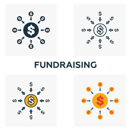 Fundraising outline icon. Thin line element from crowdfunding icons collection. UI and UX. Pixel perfect fundraising icon for web design, apps, software, print usage.