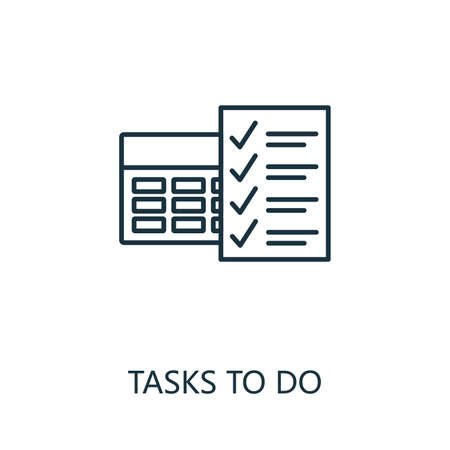 Tasks To Do outline icon. Thin line concept element from productivity icons collection. Creative Tasks To Do icon for mobile apps and web usage.