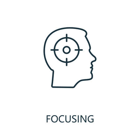 Focusing outline icon. Thin line concept element from productivity icons collection. Creative Focusing icon for mobile apps and web usage.