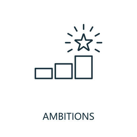 Ambitions outline icon. Thin line concept element from productivity icons collection. Creative Ambitions icon for mobile apps and web usage.