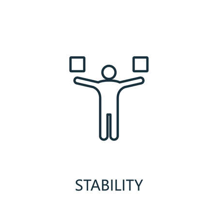 Stability outline icon. Thin line concept element from productivity icons collection. Creative Stability icon for mobile apps and web usage.