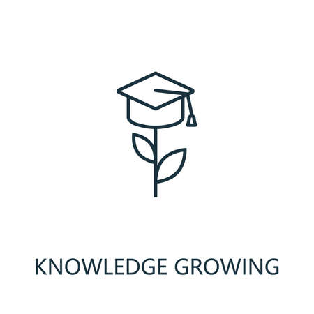 Knowledge Growing outline icon. Thin line concept element from productivity icons collection. Creative Knowledge Growing icon for mobile apps and web usage