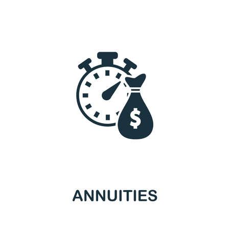 Annuities icon vector illustration. Creative sign from passive income icons collection. Filled flat Annuities icon for computer and mobile. Symbol, logo vector graphics.