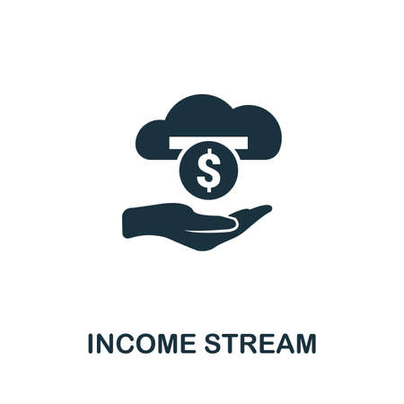 Income Stream icon vector illustration. Creative sign from passive income icons collection. Filled flat Income Stream icon for computer and mobile. Symbol, vector graphics.