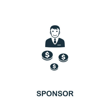 Sponsor icon vector illustration. Creative sign from passive income icons collection. Filled flat Sponsor icon for computer and mobile. Symbol,  vector graphics.