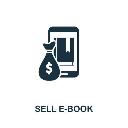 Sell E-Book icon vector illustration. Creative sign from passive income icons collection. Filled flat Sell E-Book icon for computer and mobile.  イラスト・ベクター素材
