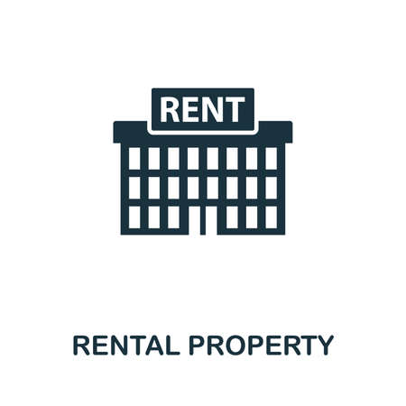Rental Property icon vector illustration. Creative sign from passive income icons collection. Filled flat Rental Property icon for computer and mobile. Symbol,  vector graphics.