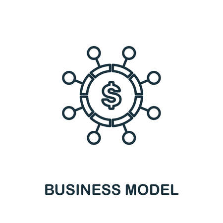 Business Model outline icon. Thin line concept element from fintech technology icons collection. Creative Business Model icon for mobile apps and web usage.