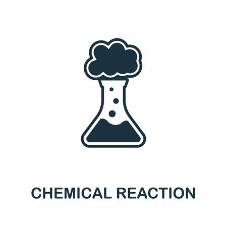 Chemical Reaction icon illustration. Creative sign from biotechnology icons collection. Filled flat Chemical Reaction icon for computer and mobile.
