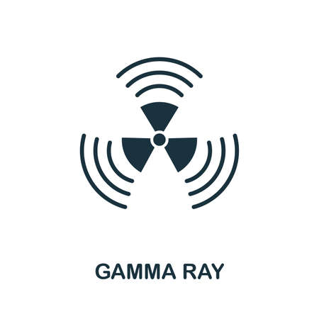 Gamma Ray icon illustration. Creative sign from biotechnology icons collection. Filled flat Gamma Ray icon for computer and mobile. Stock fotó