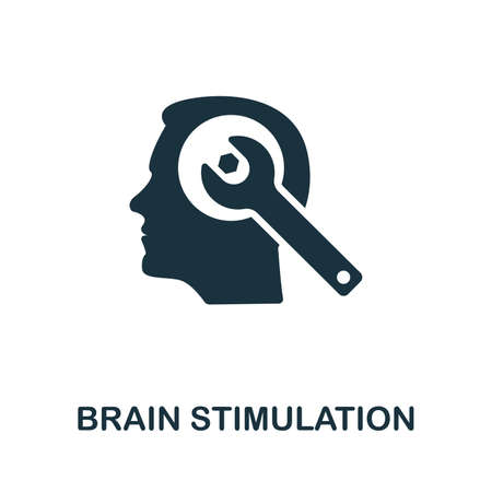 Brain Stimulation icon illustration. Creative sign from biotechnology icons collection. Filled flat Brain Stimulation icon for computer and mobile.