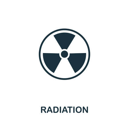 Radiation icon illustration. Creative sign from biotechnology icons collection. Filled flat Radiation icon for computer and mobile.