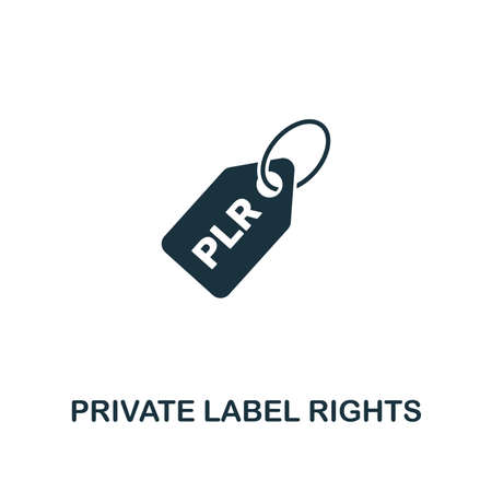 Private Label Rights (Plr) icon. Creative element design from content icons collection. Pixel perfect Private Label Rights (Plr) icon for web design, apps, software, print usage. Stok Fotoğraf