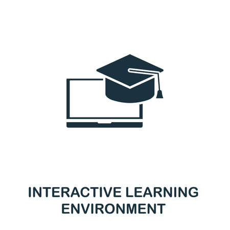 Interactive Learning Environment icon. Creative element design from content icons collection. Pixel perfect ILE icon for web design, apps, software, print usage.