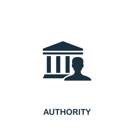 Authority icon. Creative element design from content icons collection. Pixel perfect Authority icon for web design, apps, software, print usage.