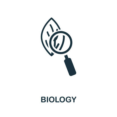 Biology icon illustration. Creative sign from education icons collection. Filled flat Biology icon for computer and mobile. Symbol,   graphics.