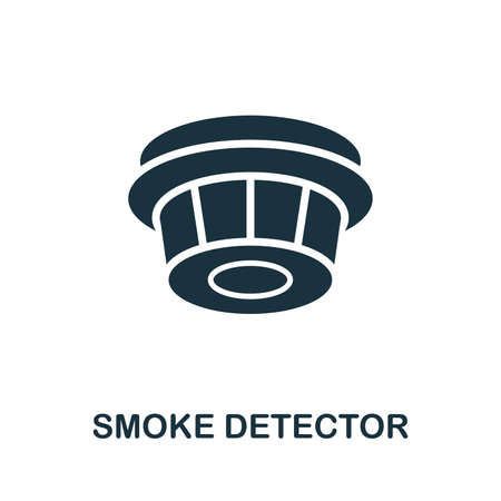 Smoke Detector icon. Creative element design from fire safety icons collection. Pixel perfect Smoke Detector icon for web design, apps, software, print usage.