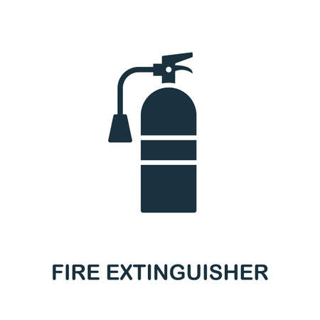 Fire Extinguisher icon. Creative element design from fire safety icons collection. Pixel perfect Fire Extinguisher icon for web design, apps, software, print usage. Stockfoto