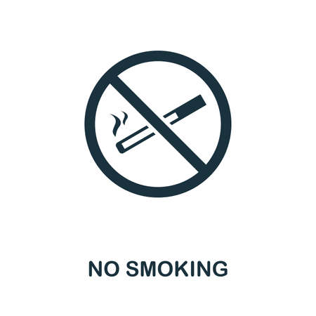 No Smoking icon. Creative element design from fire safety icons collection. Pixel perfect No Smoking icon for web design, apps, software, print usage.