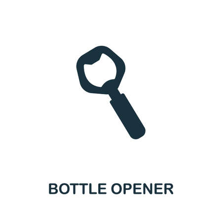Bottle Opener icon vector illustration. Creative sign from oktoberfest icons collection. Filled flat Bottle Opener icon for computer and mobile. Symbol,  vector graphics.