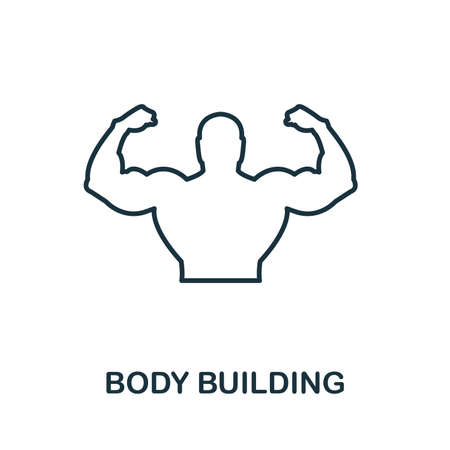 Body Building icon. Thin outline style design from fitness icons collection. Creative Body Building icon for web design, apps, software, print usage.
