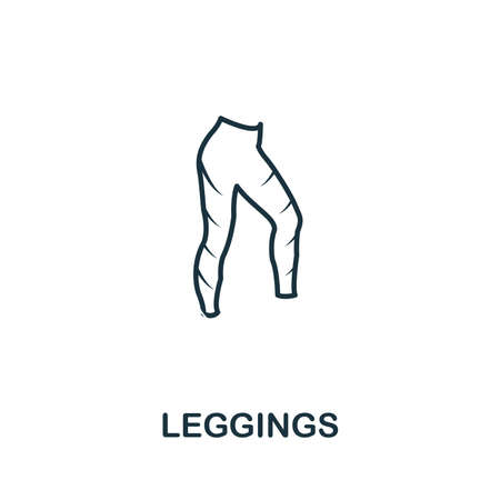 Leggings icon. Thin outline style design from fitness icons collection. Creative Leggings icon for web design, apps, software, print usage.
