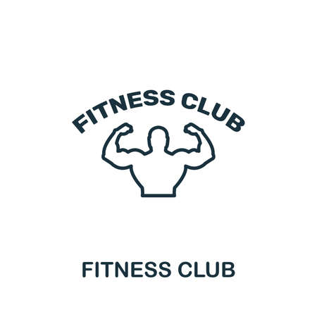 Fitness Club icon. Thin outline style design from fitness icons collection. Creative Fitness Club icon for web design, apps, software, print usage.  イラスト・ベクター素材