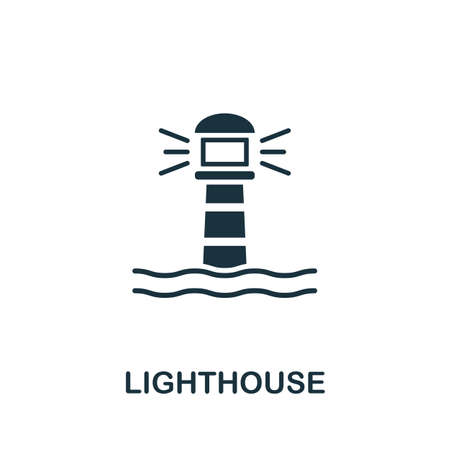Lighthouse icon vector illustration. Creative sign from buildings icons collection. Filled flat Lighthouse icon for computer and mobile. Symbol,   vector graphics.