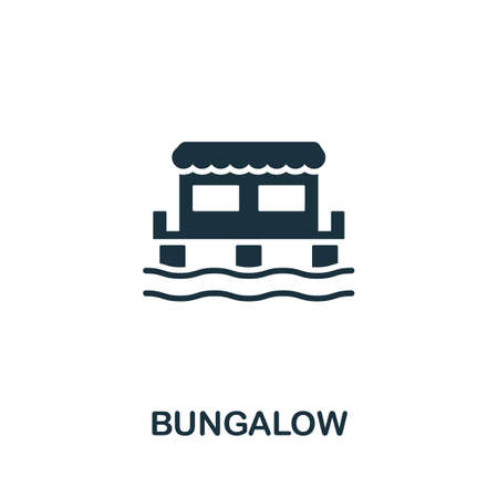 Bungalow icon vector illustration. Creative sign from buildings icons collection. Filled flat Bungalow icon for computer and mobile. Symbol, vector graphics.