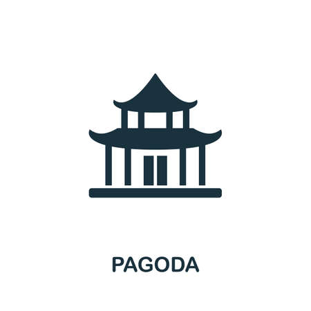 Pagoda icon vector illustration. Creative sign from buildings icons collection. Filled flat Pagoda icon for computer and mobile. Symbol, vector graphics.