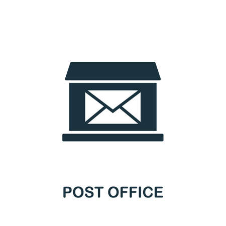 Post Office icon vector illustration. Creative sign from buildings icons collection. Filled flat Post Office icon for computer and mobile. Symbol,   vector graphics.