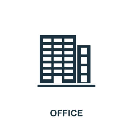 Office icon vector illustration. Creative sign from buildings icons collection. Filled flat Office icon for computer and mobile. Symbol,   vector graphics. Illustration